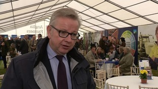 Michael Gove has been meeting farmers at the show