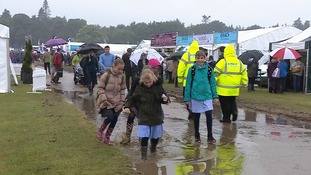It's been a rainy day at the Norfolk show!
