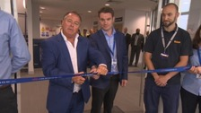 The Range owner Chris Dawson opening the new centre.