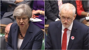 May and Corbyn clash over Grenfell in first PMQs since election