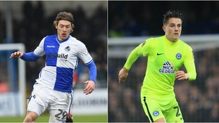 Bristol Rovers are keen on Luke James (left) and Tom Nichols (right).