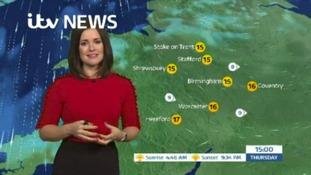 West Midlands Weather: A wet night