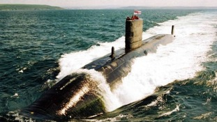 File picture of British nuclear submarine, HMS Trafalgar.