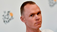 Froome is bidding for his fourth Tour win.