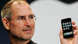 Former Apple CEO Steve Jobs introduced the first iPhone.