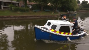 Patrol boat launched on Grand Western Canal