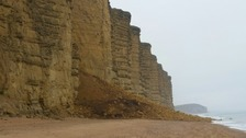 Broadchurch beach closed after cliff fall
