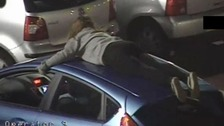 Two convicted after girl rides on car roof