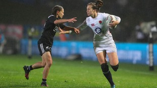England's Emily Scarratt (right)