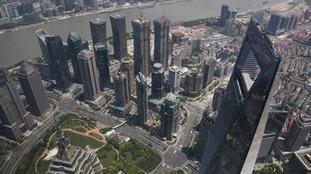 China's financial hub in Shanghai.