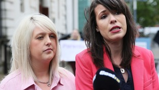Pro-choice campaigner Sarah Ewart (left), who had to travel to England for an abortion due to fatal foetal abnormality.