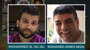Mohamed Amied Neda, right, is thought to have jumped form the building like fellow resident Mohammed Al Haj Ali, left.