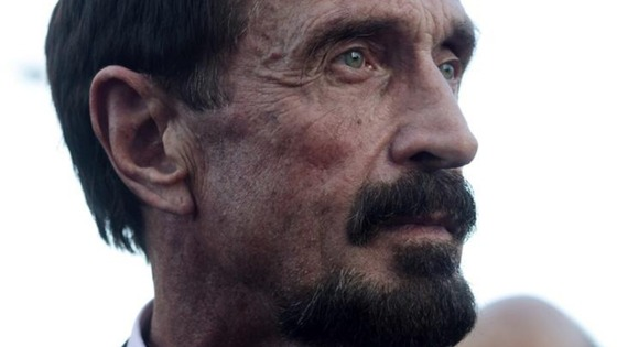 Anti-virus softward guru John McAfee.