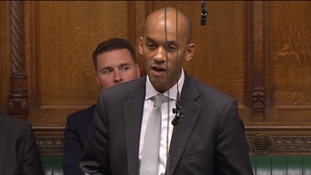Former shadow frontbencher Chuka Umunna presented his argument from the backbenches.