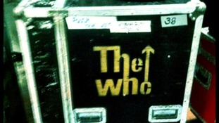 The Who's equipment backstage