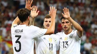 Germany put four past Mexico to set up a Confederations Cup final against Chile
