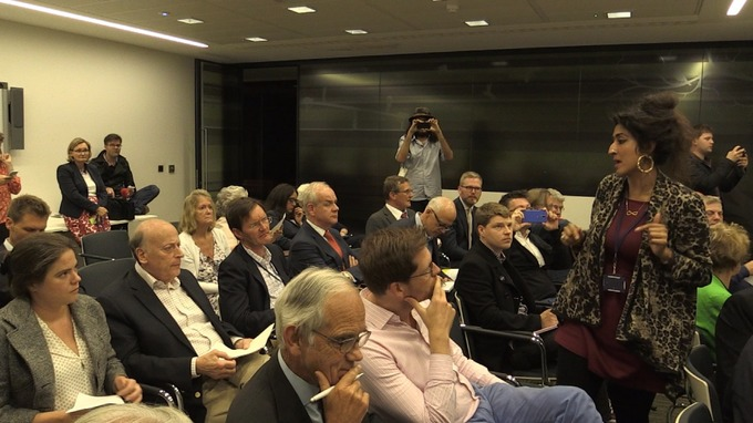 Arguments broke out among participants after the meeting was brought to an abrupt end.