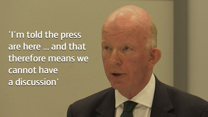 Council leader Nicholas Paget-Brown claimed the presence of reporters would 'prejudice' a forthcoming public inquiry.