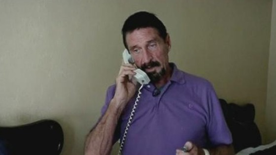 Silicon Valley millionaire John McAfee