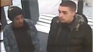 Police looking for two teenage males in connection with robbery