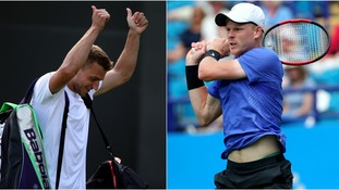 Alex Ward (left) and Kyle Edmund (right) will go head-to-head next week.