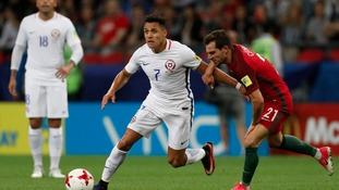 Sanchez is currently representing Chile at the Confederations Cup.