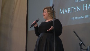 Former Pop Idol winner Michelle McManus gave a tribute.