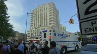 Armed police descended on the Bronx-Lebanon Hospital after the shootings.
