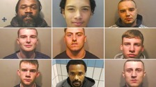 Nine men, and three boys who cannot be identified, have been jailed for drugs offences.