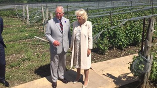 Prince Charles and Camilla visited local food producers in Canada
