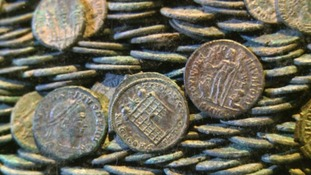 Largest Devon coin hoard goes on display