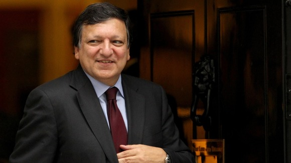 President of the European Commission Jose Manuel Barroso  leaves Downing Street in 2011