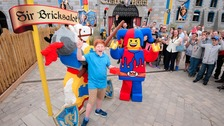 James' lego design has been unveiled at a new attraction in Legoland