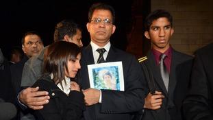 Jacintha Saldanha's family