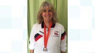 Dr Gill Owens won Silver