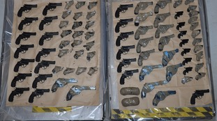 Seventy-nine guns recovered from vehicle heading for Britain