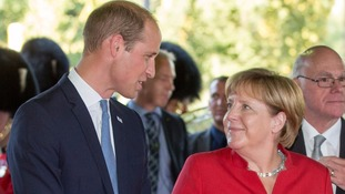 The Duke and Duchess will meet with German Chancellor Angela Merkel.