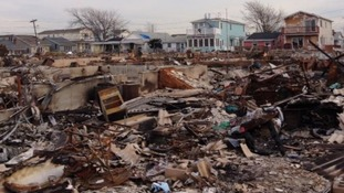 The devastation in Breezy Point following super storm Sandy