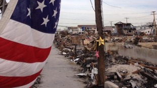 Patriotism and hope in Breezy Point a month and a half after Sandy struck