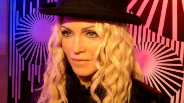 Wax work of Madonna