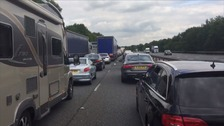 A multi-vehicle crash has caused major delays on the M11.