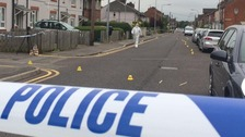 Forensic experts at the scene in Scunthorpe