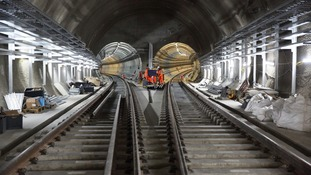 New images show Crossrail taking shape deep below London