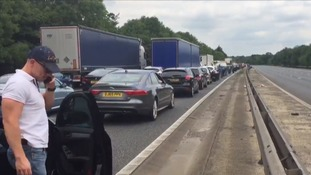 Long diversions as four-vehicle crash closes M11