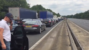 Long diversion have been put in place on the M11 in Essex after a four-vehicle crash.