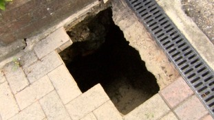 Large sinkhole opens up in Warminster