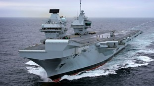 Merlin first to land on Royal Navy's biggest warship