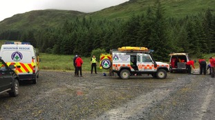 The teenagers were rescued from hills near Newton Stewart