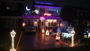 Christmas lights in Burton-Upon-Trent