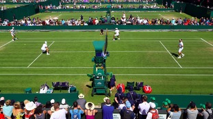 The early rounds at Wimbledon with spectators taking advantage of so many games